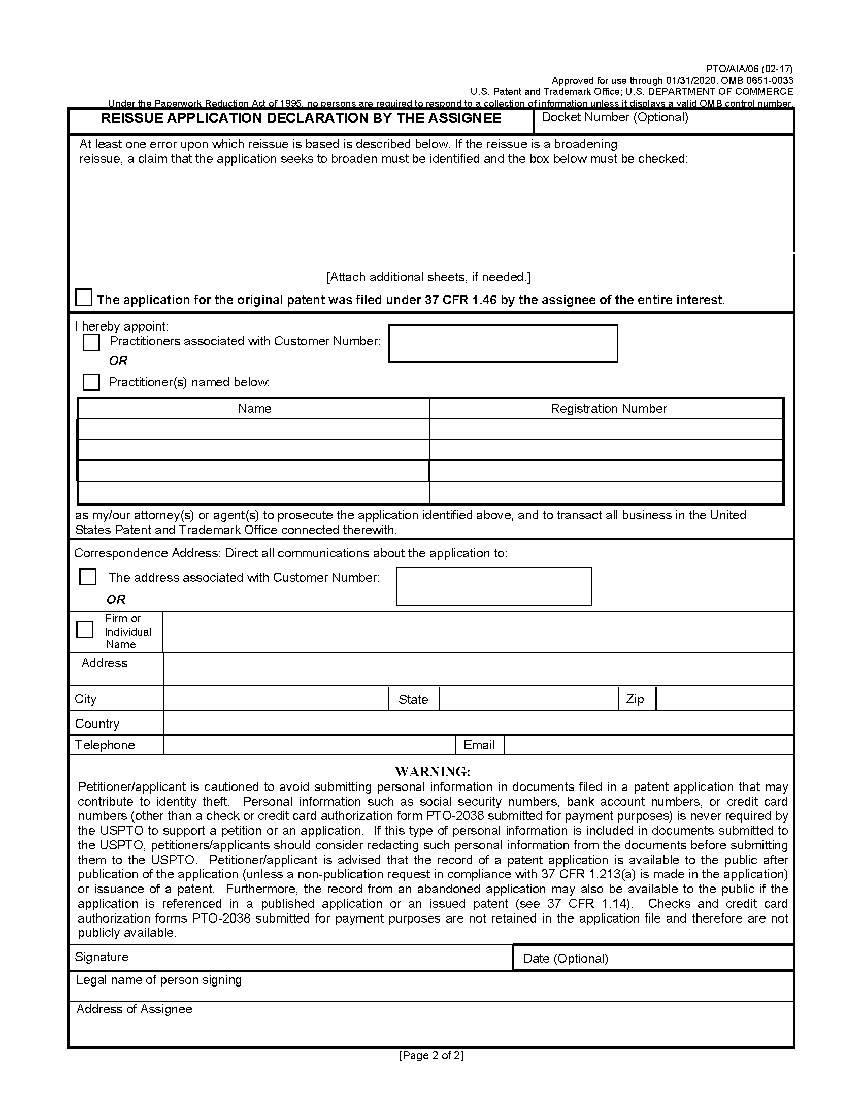 MPEP 1414.01: Reissue Oath or Declaration in Reissue Application ...