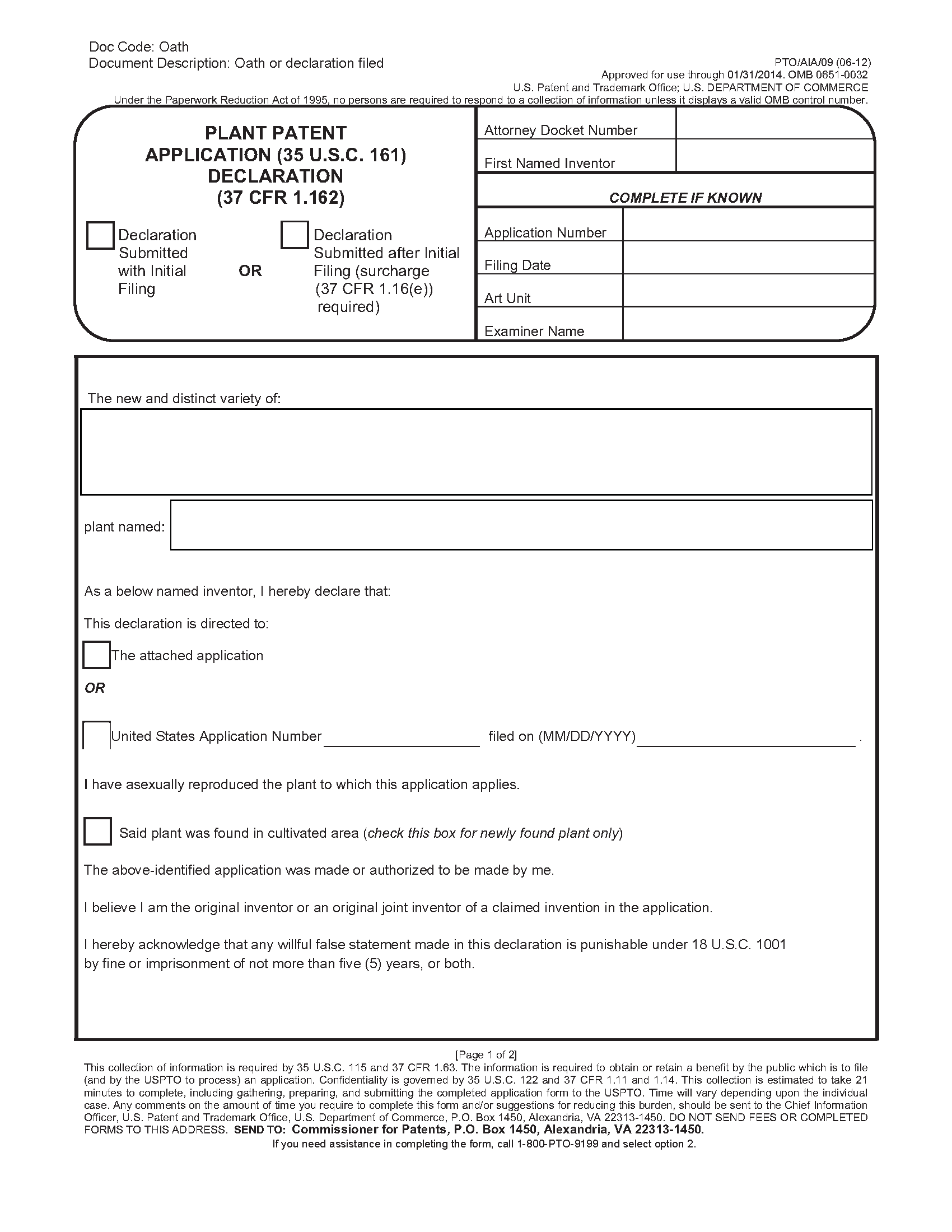 Copyright Forms by Mail