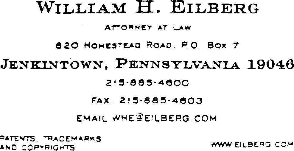 Tmep 121502a use applications oct 2017 ed bitlaw picture of business card of william h eilberg attorney at law 820 homestead reheart Images